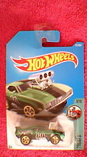 "Hot Wheels - US Card - #171 ""Tooned"" '69 Camaro Z28 - Metallic Green & Black"