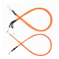 Motorcycle Orange Accelerator THROTTLE & CLUTCH CABLES for CBR600RR 2011 2012