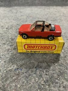 1985 MATCHBOX BMW 323i CABRIOLET RED WITH BOX