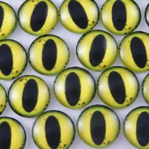 Yellow glass cabachon eyes great for taxidermy, needle felting, toy making