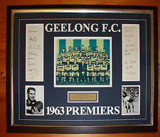 1963 Geelong signed Framed Team photo 20 signatures Cats Premiership C of A
