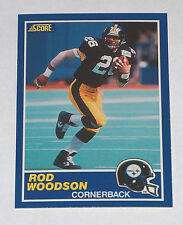 1989 SCORE #78 ROD WOODSON #23 PITTSBURG STEELERS RC ROOKIE CARD VG RAIDER COACH