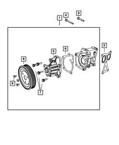 Genuine MOPAR Water Pump 5047138AC