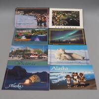 Vintage Lot of 8 Souvenir Postcards Alaska