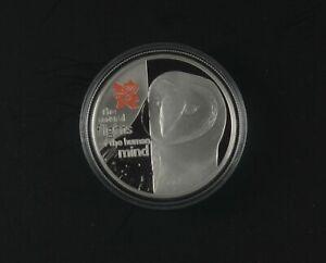 UK 2010 BRITISH FAUNA - BARN OWL - BODY SERIES - £5 SILVER PROOF - capsule coa