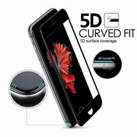 5D Full Curved 9H Tempered Glass Screen Protector Cover For iPhone 6 7 8 Plus