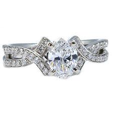 1.10 Ct Ovale Diamante GIA D Perfetto Trasparenza Anello Di Fidanzamento 18kt
