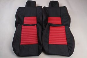 Custom Made 2008-present Dodge Challenger Real leather seat covers Front RED