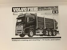 1/14 Tamiya Volvo FH16 Globetrotter 750 6x4 Timber Truck Instructions