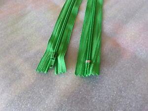 Reißverschlüsse unteilbar 19 cm grün 5 Stück