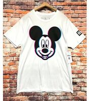 Neff x Disney Mickey Mouse T-Shirt Top Tee Men Large White Streetwear NEW