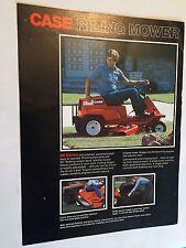 CASE Power Equipment Riding Mower Ride-on Original 1970s Vintage Sales Brochure