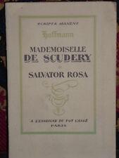 Mademoiselle de Scudery  par Hoffmann Illustré Salvat tirage de tête