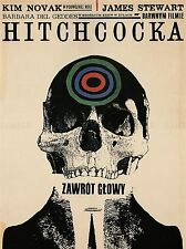 ADVERTISING CULTURAL MOVIE FILM HITCHCOCK VERTIGO POLAND POSTER PRINT BB2208A