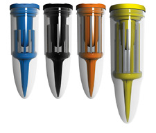 Brush T - Performance Golf Tees Blue, Black, Orange, Yellow, Combo Pack