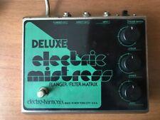 "Vintage Electro-Harmonix Deluxe Electric Mistress reverse green & black logo"" 80"