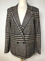 Vintage Field's Choice Plaid Blazer Jacket Double Breasted Lined Sz 6 M - US