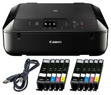 Set Canon Pixma MG 5750 DRUCKER SCANNER KOPIERER WLAN +10x XL TINTE + USB