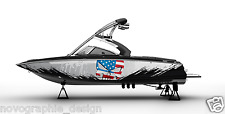!LBRK GRAPHIC KIT DECAL BOAT SPORT WRAP SEADOO WAKE BOARD PUNISHER flag usa DECO