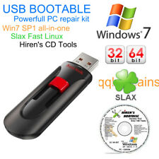 Windows 7 Repair Professional Home Premium USB Ubuntu Hiren CD Slax 16GB Toolkit