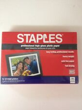 Staples Professional High Gloss Photo Paper 4 x 6 in. 100 Sheets