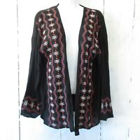 New Stitch Fix Olive + Oak Kimono Cardigan S Small Embroidered Aztec Boho
