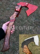AUSSIE CUTLERY CUSTOM MADE HIGH CARBON HAND PEENED BLADE TOMAHAWK VIKING AXE