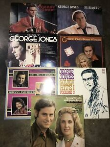 George Jones Lp Lot Of 7 Records Classic Country