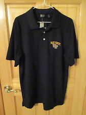 New Mens WAKE FOREST Demon Deacons SS Chest Button Black Polo Shirt Sz L NwTags