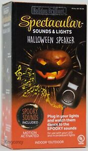 Holiday Brilliant Spectacular Sounds & Lights Halloween Speaker w/Spooky Sounds