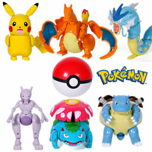 Deformable Pokemon Ball Pokeball Kids Figures Action Pop Toys Collection Gifts