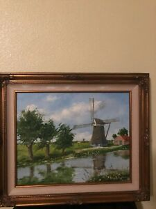 vintage oil on canvas signed by Henry Ketting Olivier
