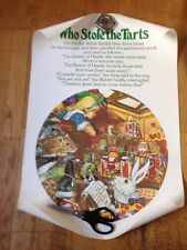 "Alice in wonderland Set Of Three Posters ""who Stole The Tarts"" Mad Hatters Tea.."