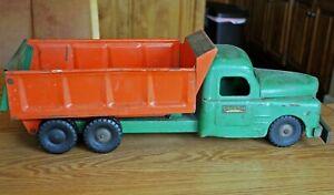 Vintage Structo Hydraulic Dump Truck - Orange & Green