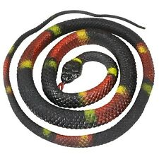 Fake Realistic Looking 48 Inch Curled Up Rubber Eastern Coral Snake