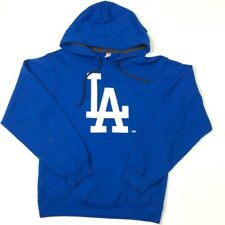 Fruit Of The Loom Mens LA Times Hoodie Blue White Pullover SofSpun Long Sleeve S