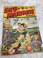 Golden Age - SUB-MARINER #7 Timely Comics Very Hard to Find FALL 1942 RARE COMIC