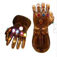 Thanos Infinity Gauntlet LED Light Gloves Kid Adult Avengers Cos Costume Props