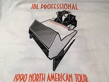 New JBL Professional 1990 North American Tour White LS Tee sz XL  FS