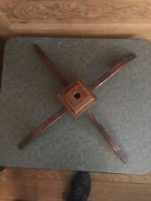 Antique Wooden Flag Pole Stand Base A