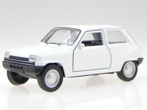 Renault 5 R5 white diecast modelcar 43740 Welly 1:34