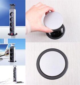Einbausteckdose Tischsteckdose Unterbau Steckdosenleiste Versenkbare 3,4 mit USB