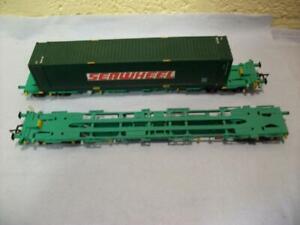Intermodal Bogie Wagons& Container 'Seawheel' Bachmann No 37-301B '00' Light Use