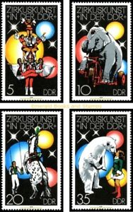 EBS East Germany DDR 1978 Circus Art in the GDR (I) Michel 2364-2367 MNH**