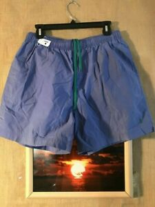 Polo Sport Ralph Lauren men's blue swim trunks size L green pony