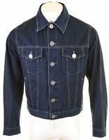 ARMANI JEANS Mens Denim Jacket UK 38 Medium Blue Cotton  DA12