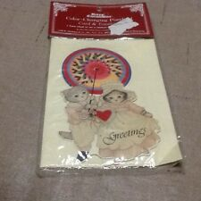 Vintage Kitty Cucumbr Kalidascope Valentine Card Nip