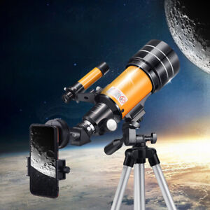 150X Magnification Astronomical Telescope 70mm Aperture HD Viewing Professional