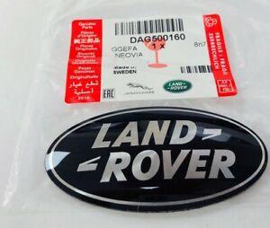 GENUINE Range Rover Sport Vogue Evoque Black & Silver Grille Badge DAG500160