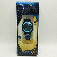 Reloj pulsera Marvel Panther LCD parpadeante Black con luces LED Banda De Color Negro
